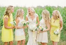 Yellow Weddings / Yellow wedding inspiration for a bright and sunny wedding day!