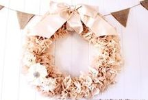 Wreaths  and Swags / Not just for front doors anymore. You can DIY or pay someone else. It is amazing what people come up with.