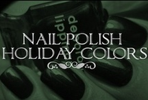Christmas Polish  / Gorgeous Christmas nail polish. These colors will give you inspiration for nail art, but if you're not the artsy type--a shimmering solid shade still captures the holiday spirit! / by Lolly Christmas