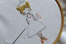 stitchery / by Linda - ArtyFartyVegan