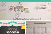 Spring / Spring speech and language activities