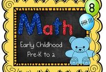 Early Childhood Math (PreK-2) / This is a collaborative board for free and priced products and ideas targeting early childhood learners. / by The Teaching Resource Resort