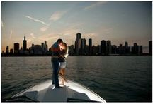 Chicago boat engagement sessions / Chicago engagements on Lake Michigan
