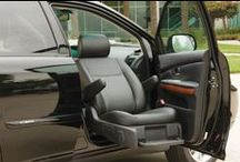 Bruno Turning Auto Seats (Valet Signature Seating) / Bruno Turning Automotive Seats (Valet Signature Seating) make getting in and out of a vehicle easier than ever. Push a button and the Valet, Valet Plus or Valet Limited will rotate, extend outside the vehicle and lower to a comfortable height.