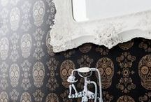 Wallpaper / Simple, antique, ornate, bold, graphic — a few of our favorite wallpaper moments.