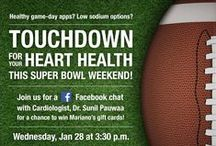 Healthy Super Bowl / Check out these recipes and tips to have a healthy and fun Super Bowl Sunday!  / by Advocate Health Care