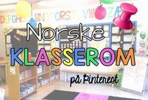 Norske klasserom / Vis oss DITT klasserom! Vi ønsker å se foto av tips til innredning, organisering, veggplakater m.m. KUN norske klasserom!