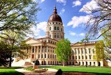 Topeka Capitol Building / Located on 20 acres in downtown Topeka, the Kansas State Capitol is the state's most important architectural treasure. The site was donated through the efforts of Cyrus K. Holliday, president of the early Topeka Town Company and one of the founders of the Atchison, Topeka & Santa Fe Railway.  Construction on the Capitol took 37 years; the building was officially completed March 24, 1903.