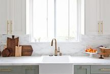 Kitchen Decor / A selection of different kitchens to help inspire your colour choice. From country kitchen inspiration to modern, neutral to colourful.