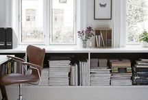 home office / home office ideas, clutter free and simply Scandinavian