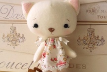 Softies, dolls and creations with yarn and fabric.