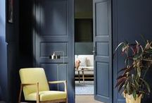 Cool Colour Schemes / Cool, bluer colours recede and, as a result, help to create a much larger space in the room.