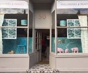 F&B Stockist 'Wallpaper Windows' 2016 / Wallpaper window displays created by our stockists, using our latest and greatest 2016 collection!