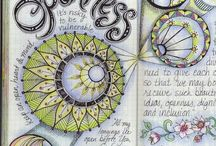 Doodle Journal  / Mix of art journaling, bullet journaling, doodling and intention journaling