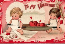 vintage valentine / These are vintage valentine images I have used for many years to make cards and little signs that I hang on the fridge and door