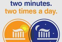 2Min2xDay / A simple lesson - two minutes, two times a day - that makes a big difference in oral hygiene. From your pediatric dentist locator, Dentists 4 Kids. www.dentists4kids.com #Dentists4Kids #pediatric-dentist