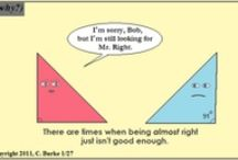 Math comics / jokes / Pins for comics & jokes related to math.  / by Tanesha Ivory