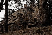 Haunted Houses / Haunted houses are beautiful but can be full of bad angry spirits too. The excitement of being in one would be priceless. / by Melissajpeters Peters