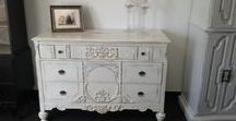 Painted Dresser Vintage Shabby Chic, Bureau, Country farmhouse bedroom, rustic chest, cottage / Here are pictures of past projects done at our warehouse. These pictures are for reference and are no longer available for sale. Please see our unfinished furniture board and pick out something for us to paint for you or bring us something and share your ideas.