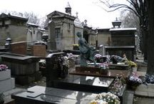 Photo Tour of Père Lachaise Cemetery / When people think of Père Lachaise Cemetery, they think of the burial spot of Jim Morrison, Abelard and Heloise, Chopin, and many other famous (mostly) French artists and celebrities. The grounds are vast, the mausoleums works of art, and the history is enticing.  While in Paris researching Oubliette — A Forgotten Little Place, I couldn't resist visiting. Join me, Vanta M. Black, on my creepy and surreal photo adventure in one of the world's most famous cemeteries…