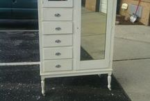 Armoire, Chifferobe, Wardrobe Vintage Painted Shabby Chic dresser, cottage bedroom, farmhouse chest / Here is a collection of past projects we have done for previous clients. Please take a look at all the colors and finishes and then check out our vintage shabby chic unfinished furniture board and pick out something for us to paint for you