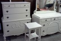 Vintage Tall Dressers Custom Painted Shabby Chic Chest Bedroom Furniture / These are pictures of past projects for our previous clients. They are for reference and are not currently for sale. Take a look and see what inspires you and then visit our vintage unfinished furniture board and pick out something for us to paint for you. / by handpaintedfurniture