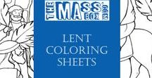 Lent coloring sheets