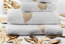 Frette Bath Linens / Comfort and absorbency with just a hint of the ornate