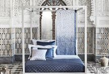 Frette SS17 Collection / The SS17 collection takes a voyage through destinations along the Tropic of Cancer: India, China, Niger, Mexico and the United Arab Emirates. Each design blends the culture of a different country with Frette's characteristic Italian craftsmanship and contemporary style.