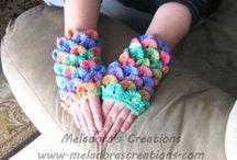Crochet Gloves & Leggings / Free crochet patterns for Gloves and leggings of all sizes
