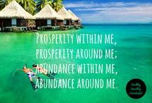 #MoneyLove - Abundance / #MoneyLoveChallenge, Abundance, Positive Thinking, Positive Affirmations, Mantra, Vision Board, Goals, Prosperity.