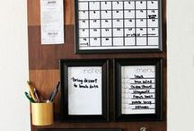 Organizing / So many awesome ideas for getting organized and keeping it organized.