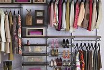 End Crowded Closets / Purses, shoes, sweaters, dresses, blouses, tees, scarves, coats, jeans, suits, whew. It's no wonder our closets get a little (or a lot) cramped. Here are some ideas to bring a little more space to your closet.