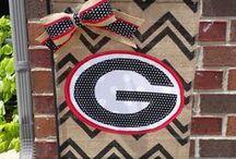 Georgia Themed Room / My husbands University of Georgia themed man cave