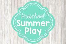 Preschool Summer ideas / indoor and outdoor activity ideas for summer; water play, gardening, camping
