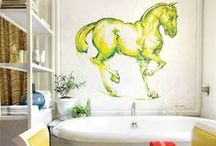 Equestrian Home & Decor / Fun, chic ideas & crafts for horse lovers - plus home decor items and design inspiration!