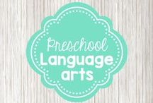 Preschool Language Arts / activities to teach letter recognition, writing, and basic reading concepts