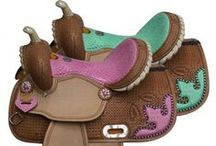 Saddles╰☆╮ / A selection of Western & English saddles. Find 100's more at www.chicksaddlery.com