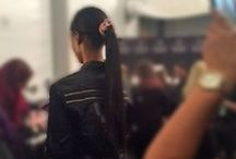 NYFW 2014 / We teamed up with a celebrity hairstylist to bring sleek and chic ponytails to the runway. He used our new 3Q Styling Tool to quickly and quietly get salon quality results right backstage at a New York Fashion Week runway event. Check it out! / by Conair Beauty