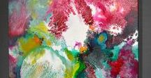 """""""Coming Alive 3"""" original fluid painting / My original abstract contemporary fluid painting https://www.sallytrace.com/store/p530/coming-alive-3-abstract-expressionist-painting.html"""