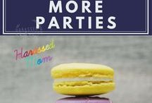 Parties, parties and more parties / I organise 4 parties a year for my children. That is a lot of planning and preparation but I love it and look forward to each of their parties every year. This is a collection of their parties and parties I have used as inspiration. #partyplanning #kidsparties