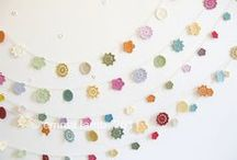 Crafts | Garland / Garlands, buntings and flags galore. DIY crafts to try at home.