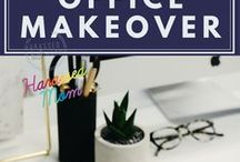 Home Office Makeover / I work from home and I have a small space so I am always looking for new decor and inspiration I can add!