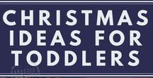 Christmas Ideas for Toddlers / There are so many toys for kids out there but what do you really need for your toddler? Are you looking for ways to keep your toddler busy during the holidays?  You will find EVERYTHING you need to survive Christmas with toddlers on this board. #toddlers #parenting #christmas