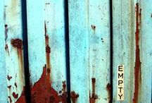 """R"" is for Rust / Texture, Colour, Buildings, Decay, Rust."