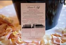 Wedding Programs / Perfectly Practical Wedding Programs featured at Villa Siena ~ Arizona Weddings & Events. More Wedding Ideas www.facebook.com/villasiena