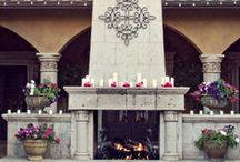 Fireplace Photography / The gorgeous, picturesque fireplaces at Villa Siena