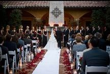 Outdoor Wedding Ceremonies / Arizona Wedding Venue. Tuscan style courtyard, stately colonnade, stone fireplace, fountain and vine arches. In Arizona serving Gilbert, Chandler, Phoenix, Tempe, Scottsdale, Mesa, Paradise Valley, Queen Creek, Ahwatukee, Glendale, Peoria.