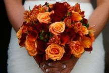 Orange Bridal Bouquets / Never thought of orange as a bridal color? Think again! These brides have created stunning orange bouquets for their wedding day!