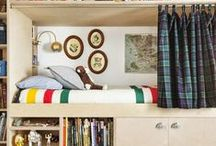 camp ivanhoe room / inspired by moonrise kingdom :: for two boys to share / by Kristin // skirt as top